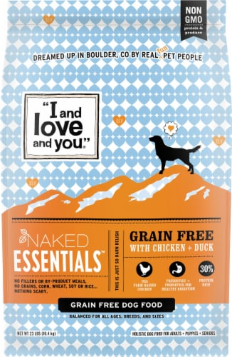 I and Love and You Naked Essentials Chicken & Duck Grain Free Dog Food Perspective: front