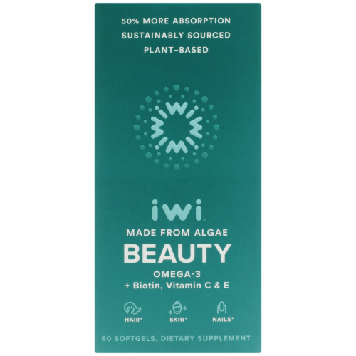 iwi Beauty Omega-3 Softgels Perspective: front