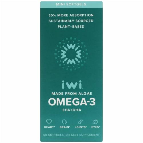 iWi Algae-Based Omega-3 Minis Perspective: front