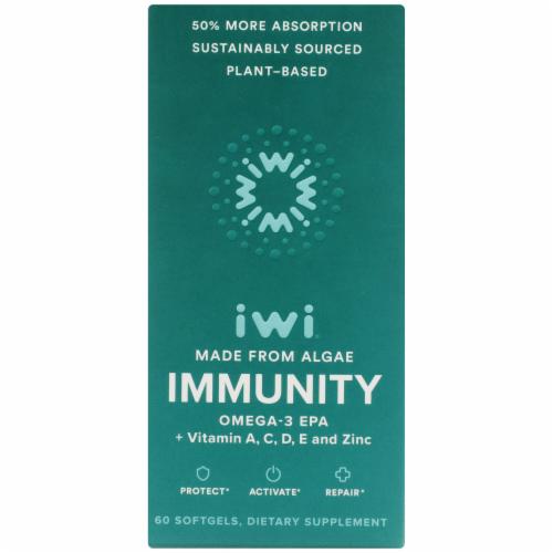 iWi Algae-Based Immunity Omega-3 Supplement Perspective: front