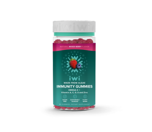 iwi Mixed Berry Immunity Gummies Perspective: front