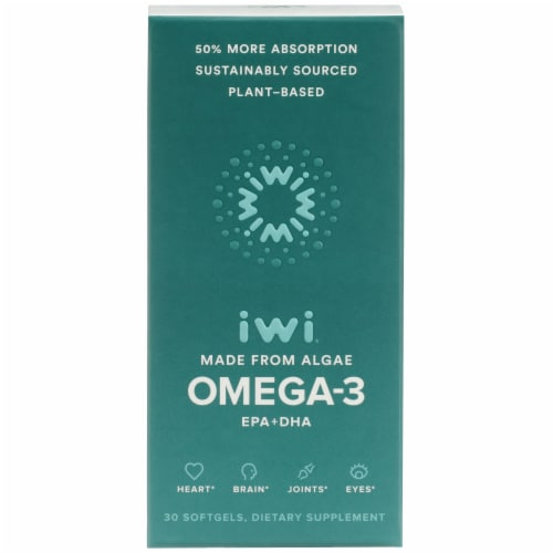 iwi Omega 3 Softgel Capsules 850 mg Perspective: front