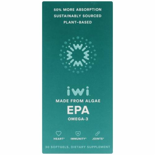 iwi EPA Omega 3 Softgel Capsules Perspective: front