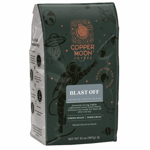 Copper Moon Blast Off Whole Bean Coffee Perspective: front
