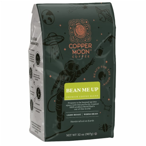 Copper Moon Bean Me Up Whole Bean Coffee Perspective: front