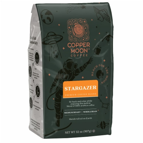 Copper Moon Stargazer Whole Bean Coffee Perspective: front