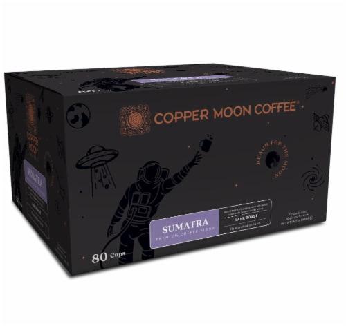 Copper Moon Dark Roast Sumatra Single Serve Coffee Pods Perspective: front