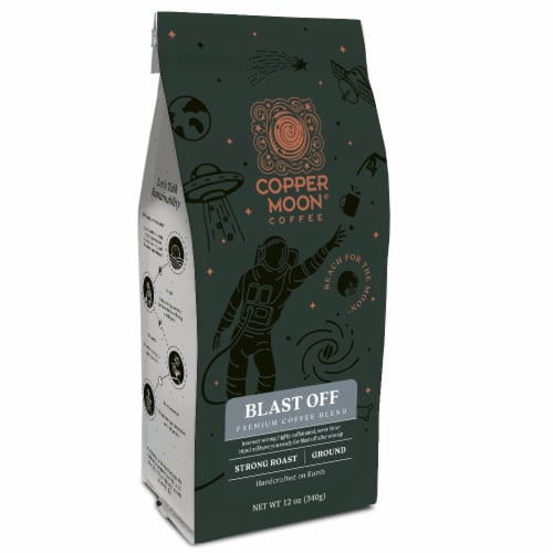 Copper Moon Blast Off Strong Roast Ground Coffee Perspective: front