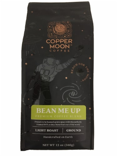 Copper Moon Bean Me Up Light Roast Ground Coffee Perspective: front