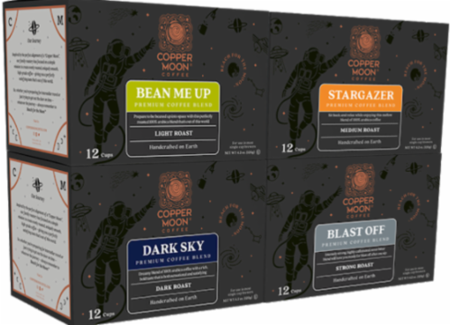 Copper Moon Single Serve Coffee Cups Variety Pack Perspective: front