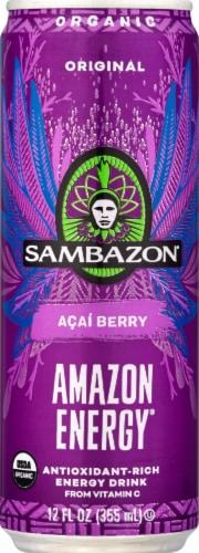 Sambazon Amazon Energy® Original Acai Berry Energy Drink Perspective: front