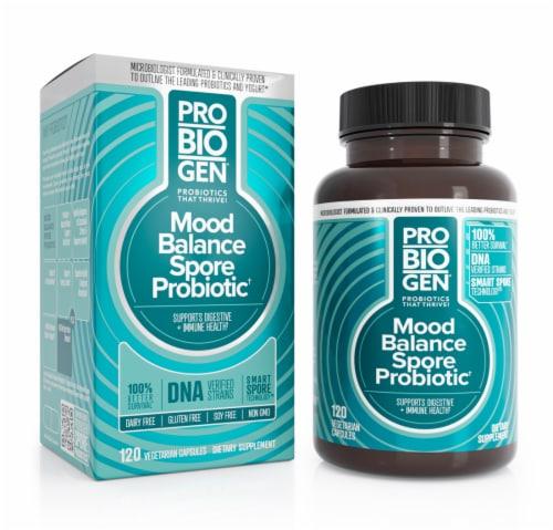 Probiogen® Mood Balance Spore Probiotic Vegetarian Capsules Perspective: front