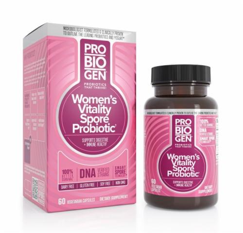 Probiogen® Women's Vitality Spore Probiotic Vegetarian Capsules Perspective: front