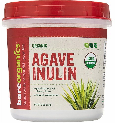 BareOrganics Agave Inulin Powder Raw Perspective: front
