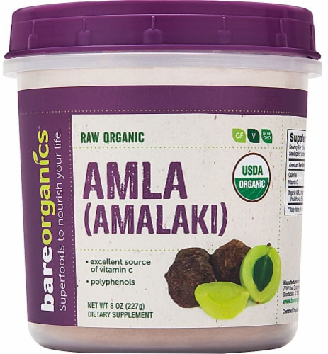BareOrganics  Amla Powder Raw Perspective: front