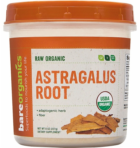 BareOrganics Raw Organic Astragalus Root Powder Perspective: front