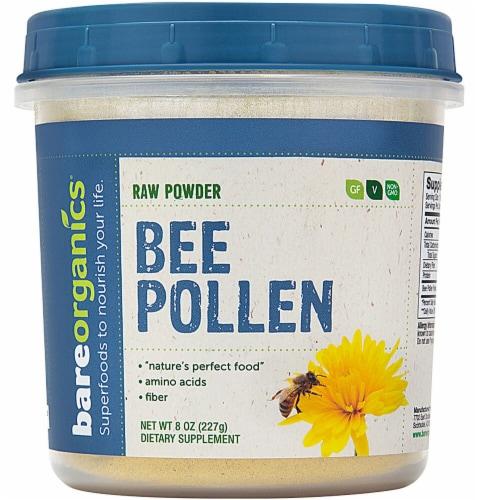 BareOrganics  Bee Pollen Powder Raw Perspective: front