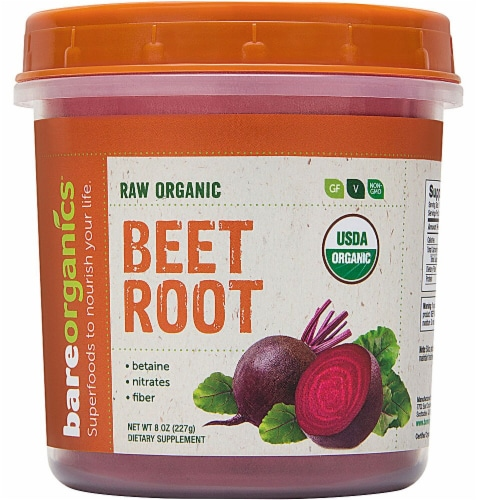 BareOrganics  Beet Root Powder Raw Perspective: front