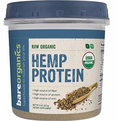 BareOrganics Raw Hemp Protein Powder Perspective: front