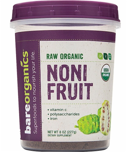 BareOrganics  Noni Fruit Powder Raw Perspective: front