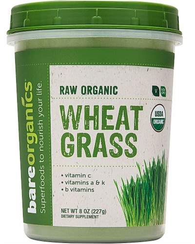 BareOrganics  Wheat Grass Powder Raw Perspective: front