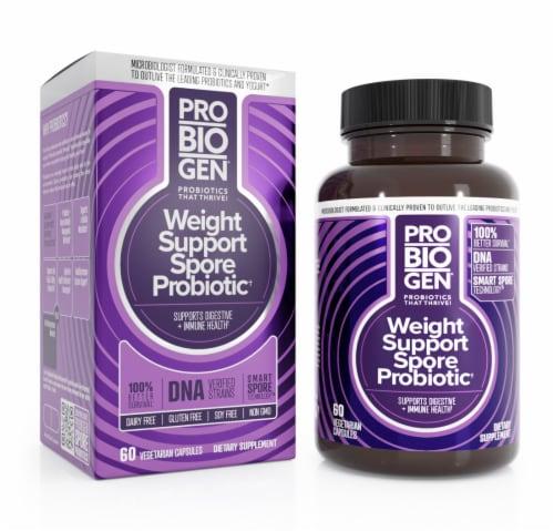 Probiogen® Gluten-Free Weight Support Spore Probiotic Vegetarian Capsules Perspective: front