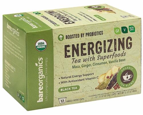 BareOrganics Energizing Black Tea Single Serve Cups Perspective: front