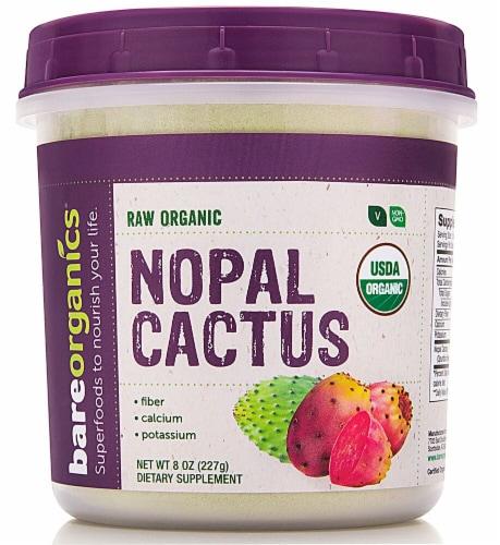 BareOrganics Raw Nopal Cactus Powder Perspective: front