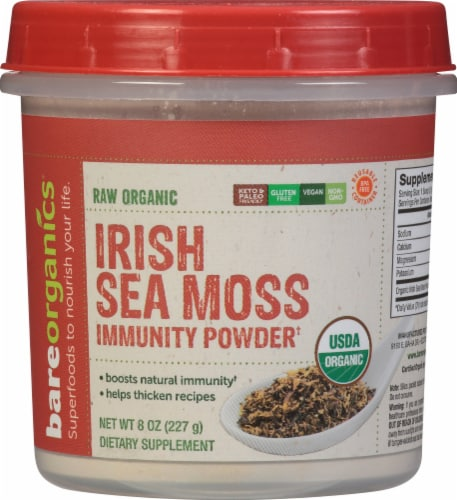 BareOrganics Raw Irish Moss Powder Perspective: front