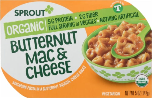 Sprout Organic Butternut Mac & Cheese Baby Food Perspective: front