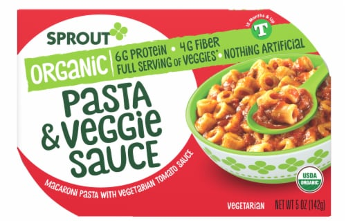 Sprout Organic Pasta & Veggie Sauce Baby Food Perspective: front