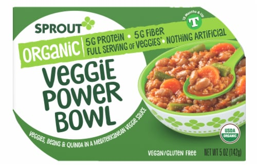 Sprout Organic Veggie Power Bowl Perspective: front