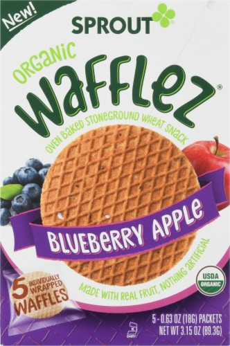 Sprout Organic Blueberry Apple Wafflez Perspective: front