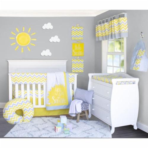 Pam Grace Creations Bdnb 10 Sunshine, Yellow Gray Crib Bedding
