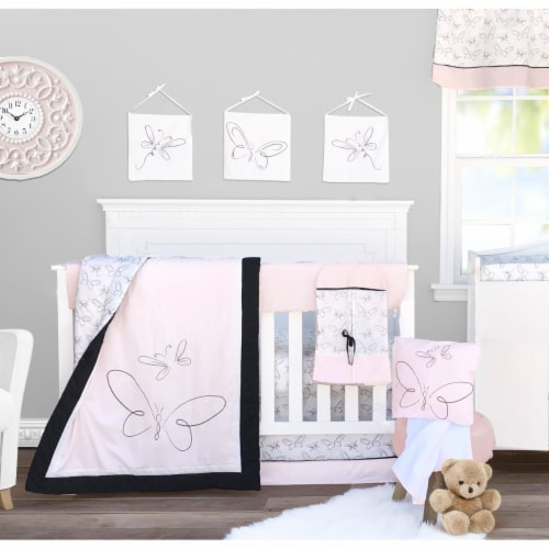 Pam Grace Creations BDNB-13-Rose Crib Bedding Set, Watercolor Rose - 13 Piece Perspective: front