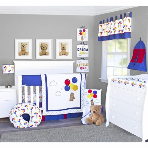 Pam Grace Creations BDNB-10-Bears Bears & Balloons Crib Bedding Set  Multi Color - 10 Piece Perspective: front