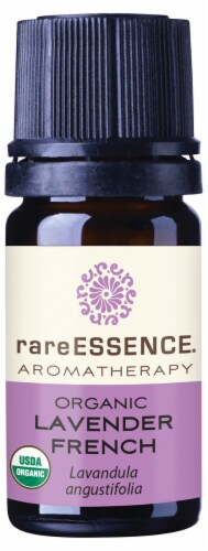 Rare Essence Organic Lavender French Essential Oil Perspective: front