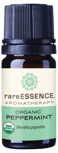 Rare Essence Peppermint Organic Essential Oil Perspective: front