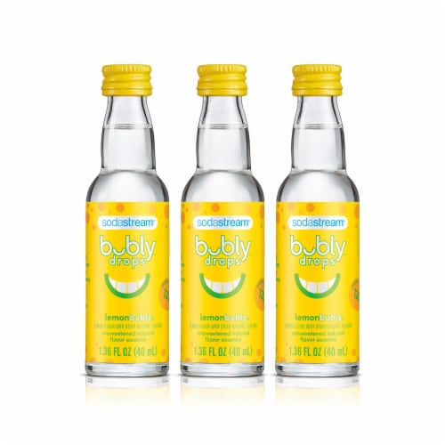 SodaStream bubly drops Lemon Unsweetened Natural Flavor Essence Perspective: front