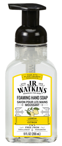 J.R. Watkins Lemon Foaming Hand Soap Perspective: front