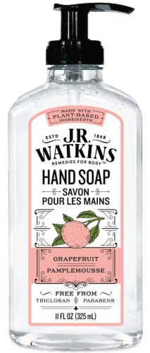 J.R. Watkins Liquid Grapefruit Hand Soap Perspective: front