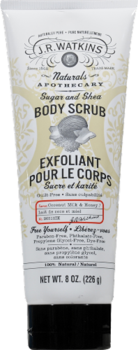 J.R. Watkins Sugar and Shea Coconut Milk and Honey Body Scrub Perspective: front