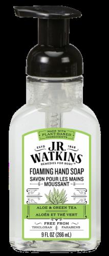 J.R. Watkins Aloe & Green Tea Foaming Hand Soap Perspective: front