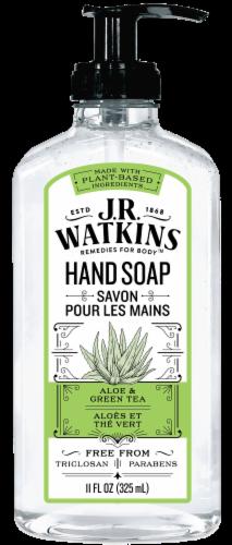 J.R. Watkins Aloe & Green Tea Liquid Hand Soap Perspective: front