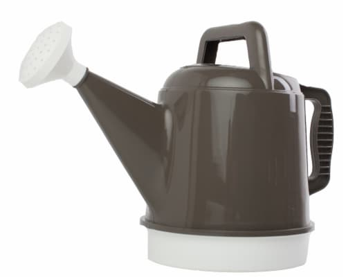 Bloem Deluxe Watering Can 2.5 Gallon Peppercorn Perspective: front