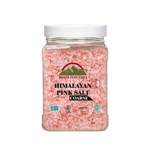 Himalayan Chef Pink Salt, 100% Natural, Coarse, Ideal for Salt Grinders & Salt Mills | 5 lbs. Perspective: front