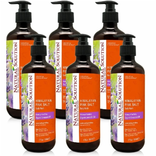Natural Solution Body Wash, Organic Lavender Oil, Relax & Purify Skin Deeply - Pack of 6 Perspective: front