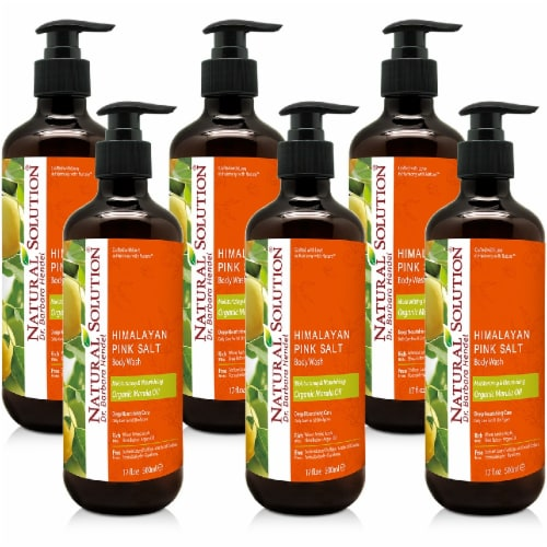 Natural Solution Body Wash, Natural Formula Best for All Skin Types, Marula Oil - Pack of 6 Perspective: front