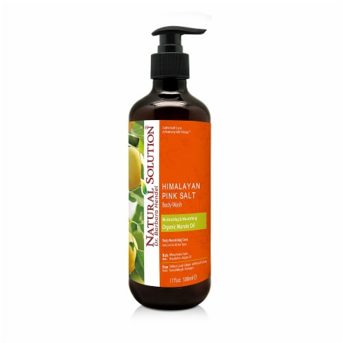 Natural Solution Body Wash, Nutritious Blend of Shea Butter & Argon oils, Marula Oil - 17 oz Perspective: front