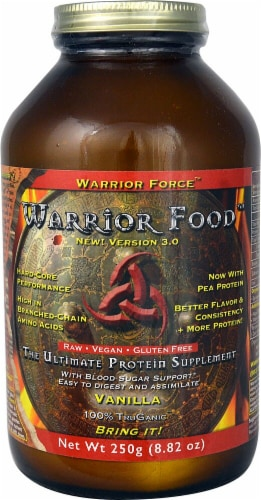 Warrior Force Warrior Food Vanilla Flavored Protein Supplement Perspective: front